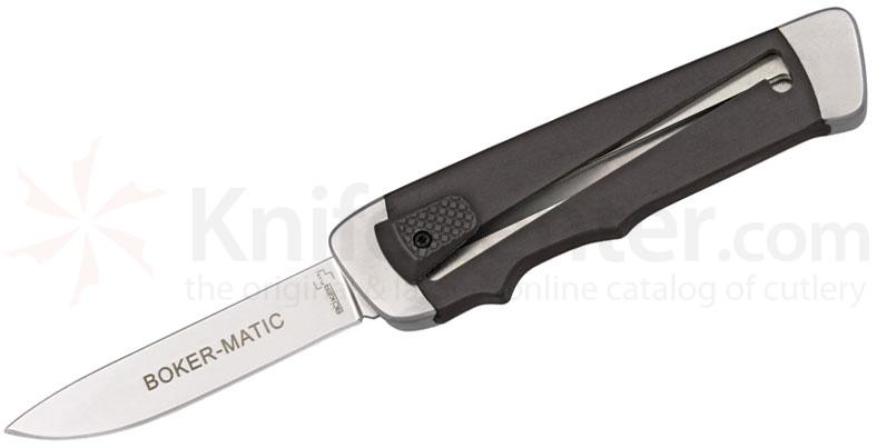 Boker Plus Boker-Matic OTF 3 inch Blade, Black FRN Handles, Not An Automatic