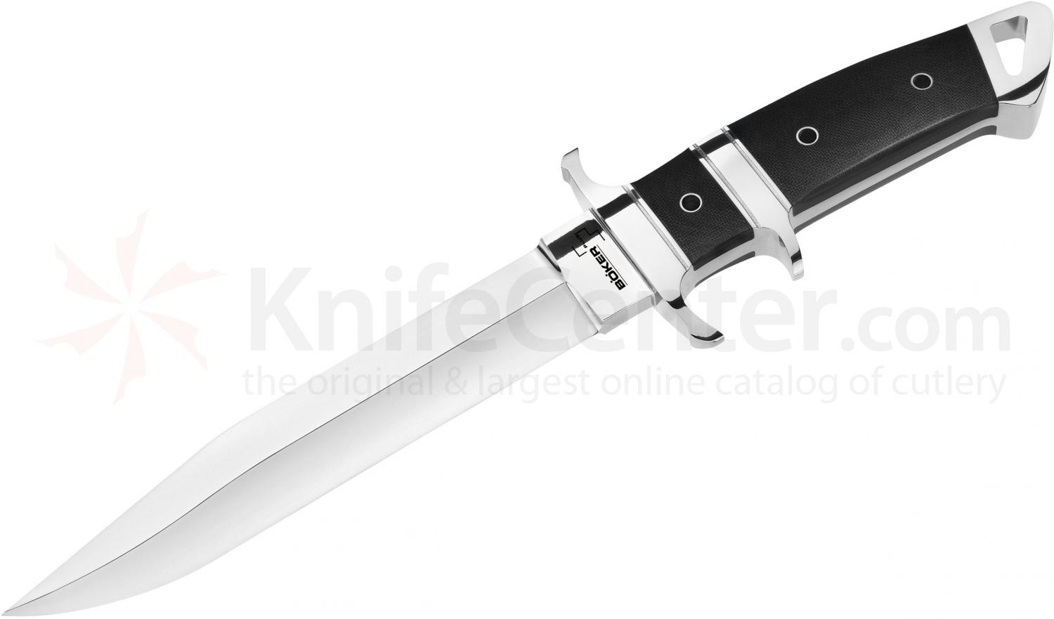 Boker Plus Kressler Subhilt Fighter Fixed 7-1/2 inch Blade, Micarta Handles