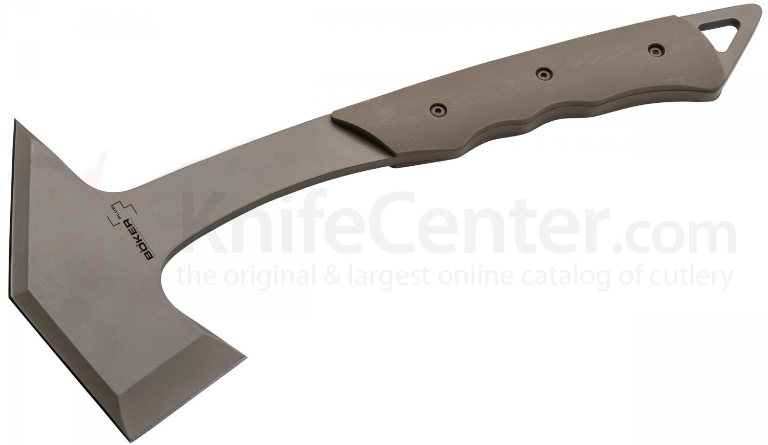 Boker Plus Carnivore Tomahawk 14.25 inch Overall, Tan G10 Handles, Kydex Sheath