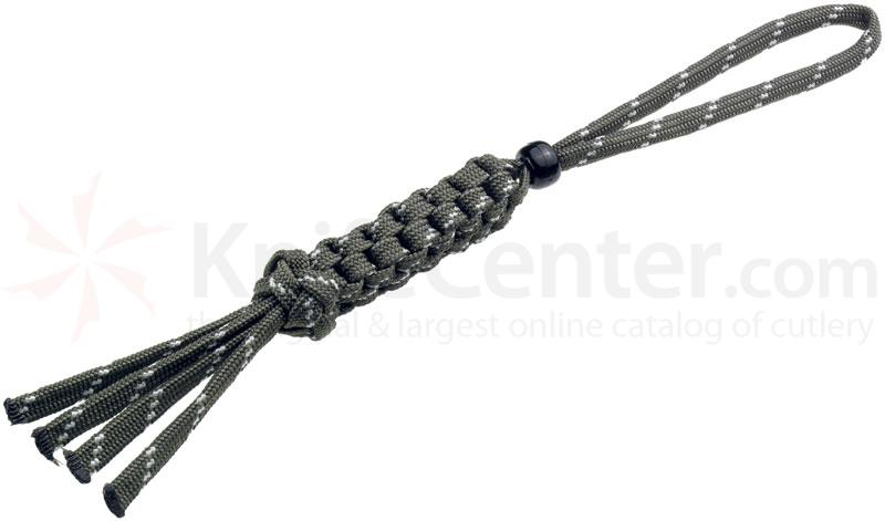 Boker Wilson Tactical Lanyard, Olive/Glow in the Dark, Black Bead (09WT009)
