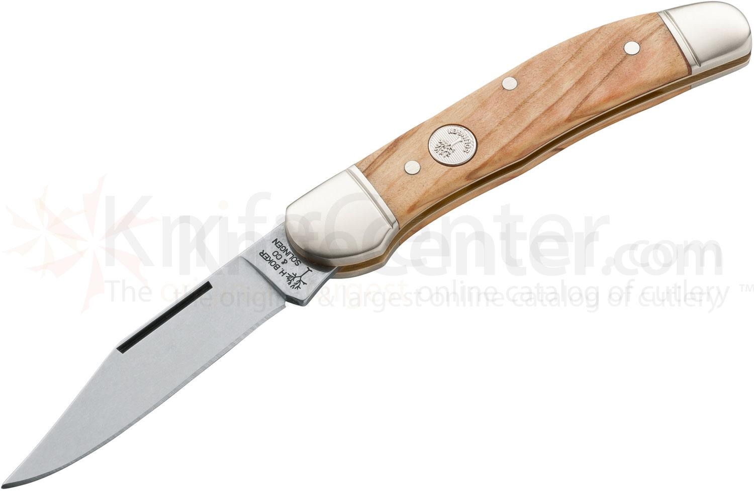 Boker Evergreen Series Special Edition Copperhead with Olive Wood Handle 3-3/4 inch Closed