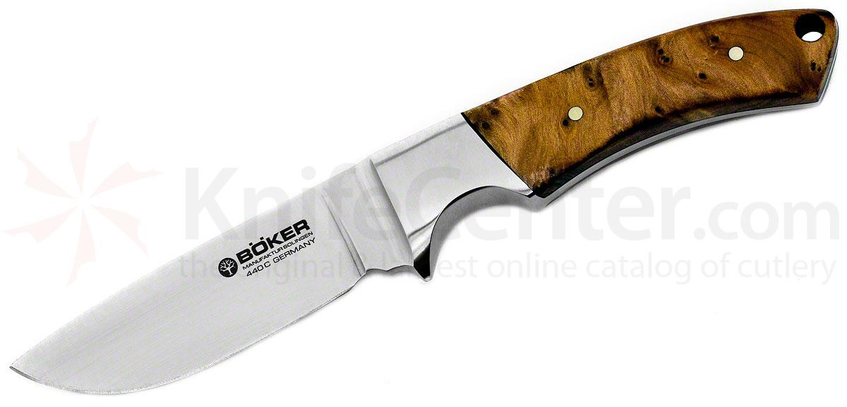 Boker Integral Hunter Fixed 3-3/8 inch Blade, Thuya Wood Handles (120535TH)