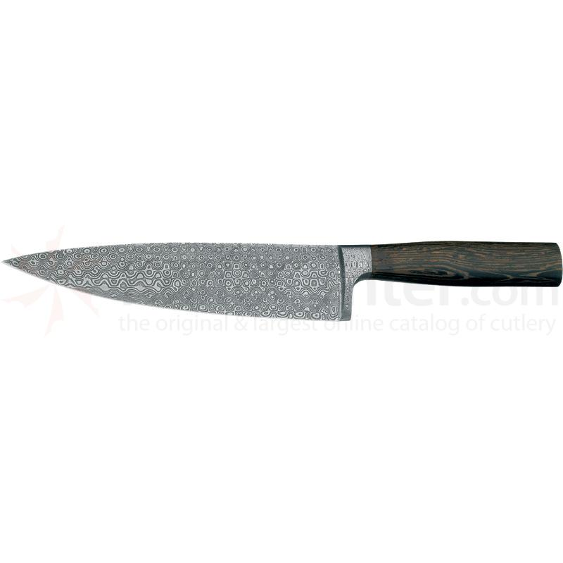 Boker Damascus Rose Chef's Knife 8 5/8 inch Blade, Wenge Wood Handles