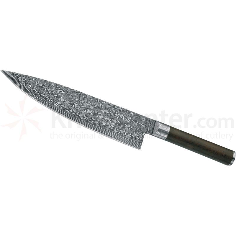 Boker Damascus Superior Chef's Knife 8-5/8 inch Blade, African Grenadill Wood Handles