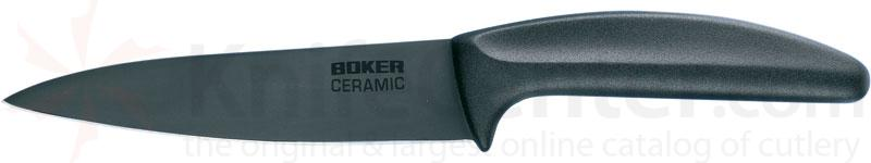 Boker Ceramic Utility Knife 5-1/4 inch Black Blade, Delrin Handle