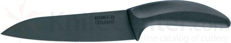 Boker Ceramic Chef's Knife 6-1/8 inch Black Blade, Delrin Handle