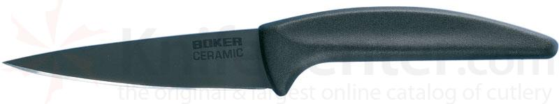 Boker Ceramic Paring Knife 3-3/8 inch Black Blade, Delrin Handle