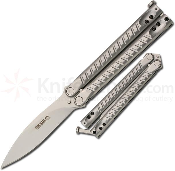Bradley Cutlery Kimura Butterfly Knife with 3.8 inch Sandvik 13c26 Stainless Steel Blade