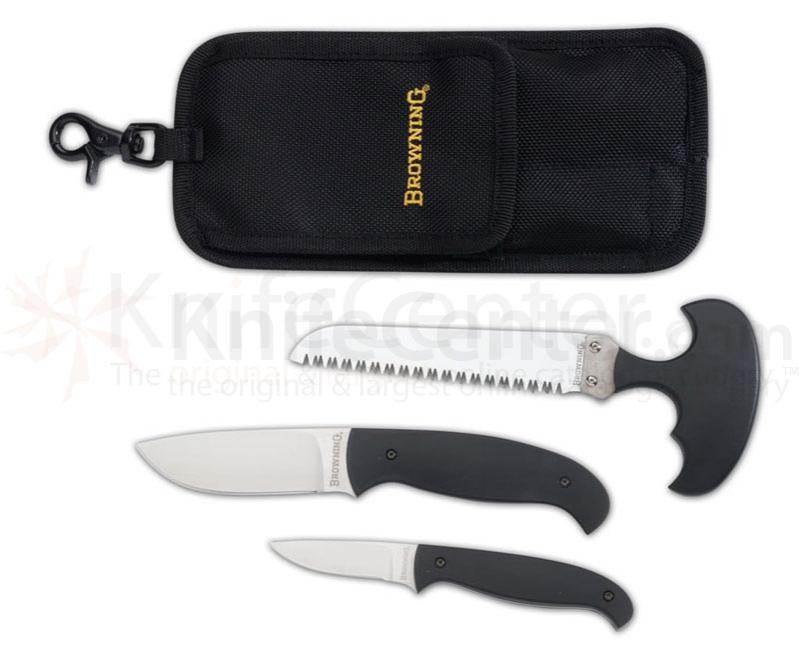 Browning Hard Core Hunter Knife and Saw Combo with Nylon Sheath