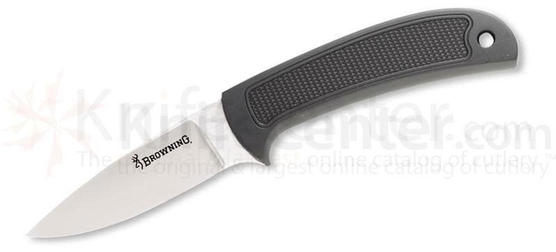 Browning Escalade Hunter Fixed  3-1/8 inch Plain Blade, Zytel Handles, Nylon Sheath Included