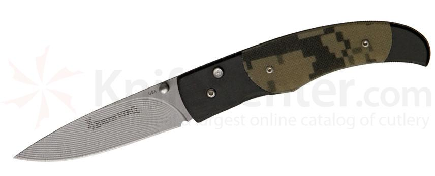 Browning Independence Folding 3 inch Plain Blade, Camo G-10 Handles
