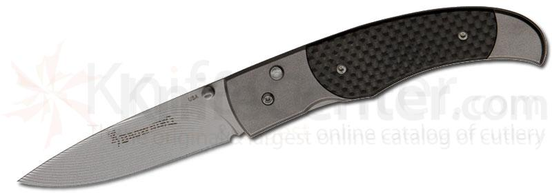 Browning Independence Folding 3 inch Plain Blade, Carbon Fiber Handles