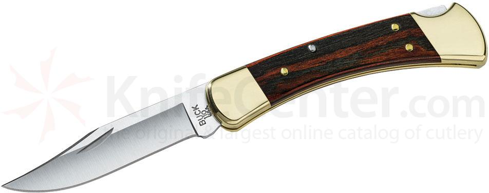 Buck 110 Folding Hunter 3-3/4 inch Blade, Dymondwood Handles, Leather Sheath