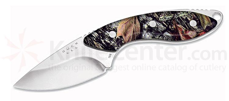 Buck 196 Mini Alpha Fixed Blade Hunter w/ Camouflage Handle & Sheath