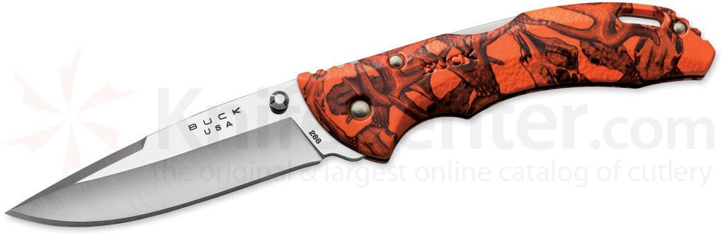 Buck 286 Bantam BHW Folding Knife 3-5/8 inch Blade, Orange Head Hunterz Handles
