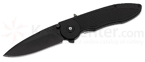 Buck Knives 297 Sirus Black Assisted Opening Pocketknives 3 1/4 inch Plain Edge