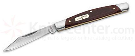 Buck 379 Solo Single Blade Pocket Knife 3 inch Closed, Woodgrain Handles (0379BRW)