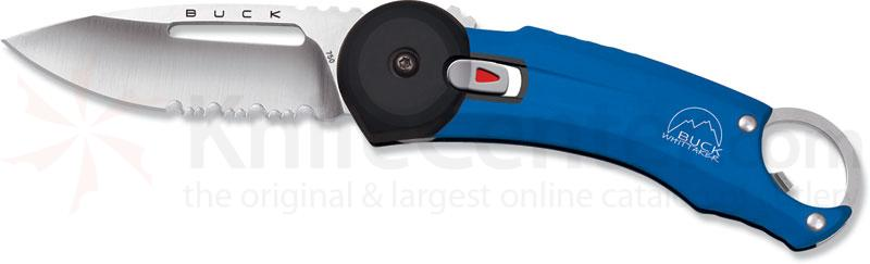 Buck Redpoint Blue Handle 2.75 inch Combo Edge and Bottle Opener