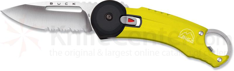 Buck Redpoint Yellow Handle 2.75 inch Combo Edge and Bottle Opener