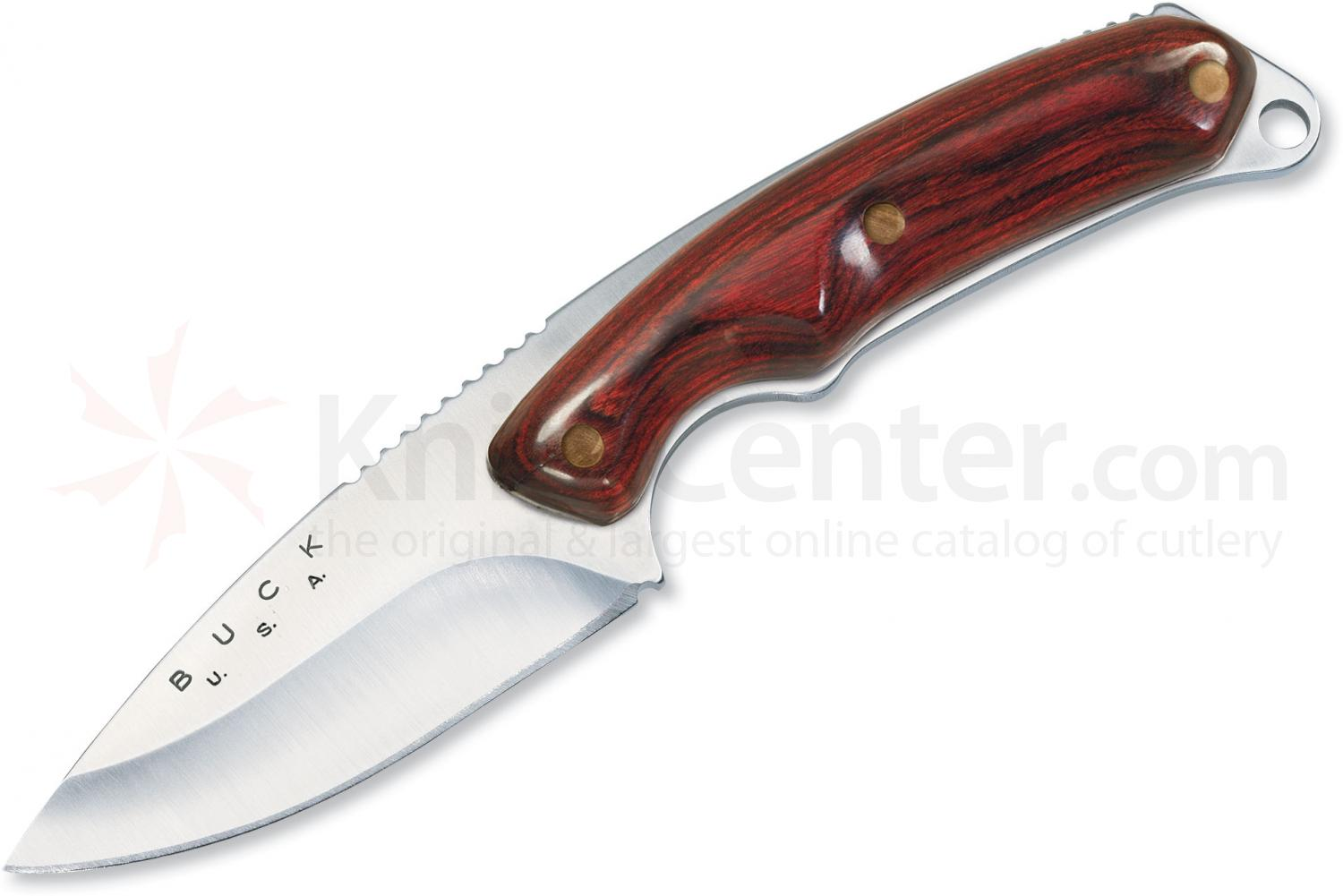 Buck 195 Mini Alpha Hunter Fixed 2-1/2 inch Blade, Rosewood Handles