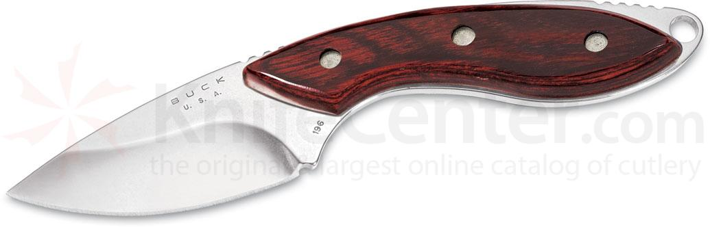 Buck 196 Mini Alpha Hunter Fixed 2-1/2 inch S30V Blade, Rosewood Handles, Leather Sheath