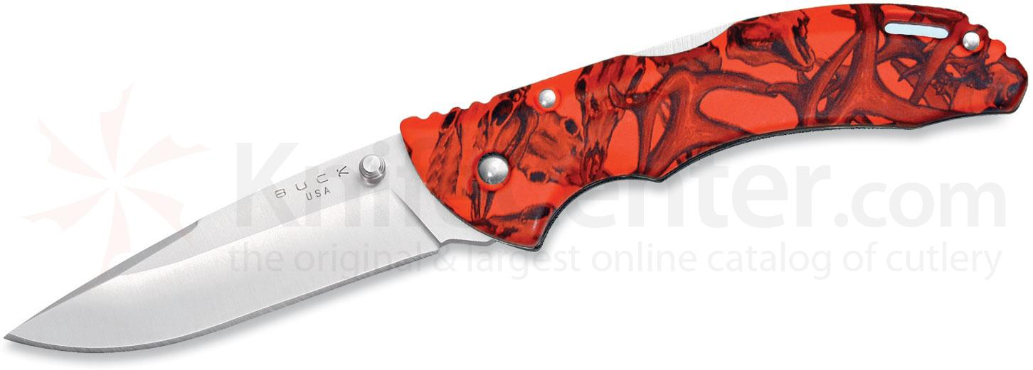 Buck 285 Bantam BLW Folding Knife 3-1/8 inch Blade, Orange Head Hunterz Handles