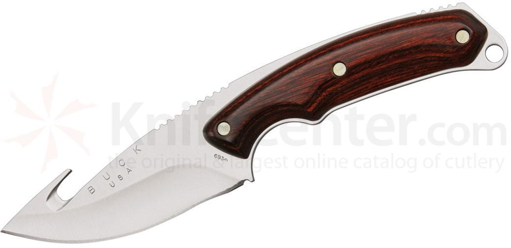 Buck 693 Alpha Hunter Fixed 3-3/4 inch Blade with Guthook, Rosewood Handles
