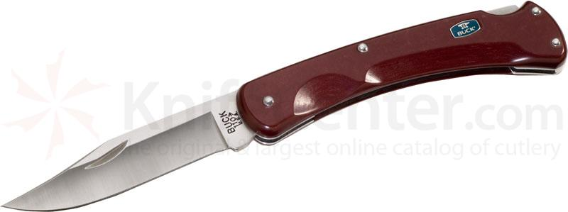 Buck 110 EcoLite Folding Knife 3-3/4 inch Blade, Red PaperStone Handles