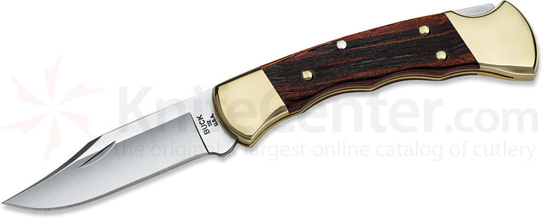 Buck 112 Ranger Finger Grooved Folding Hunter Style Lockback 3 inch Blade