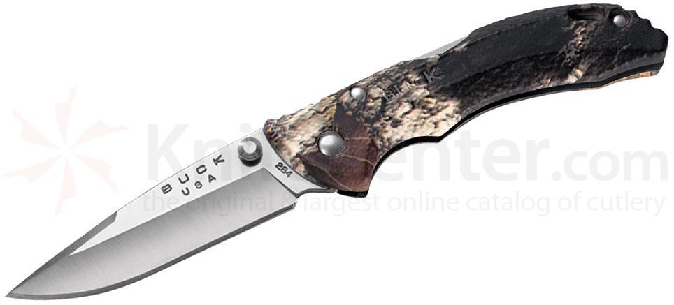 Buck Bantam BBW Folding Knife 2-3/4 inch Satin Plain Blade, Mossy Oak Break-Up Handles