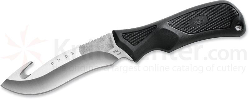 Buck ErgoHunter Fixed 4-3/4 inch Sandvik Blade, Guthook, Rubber Handle