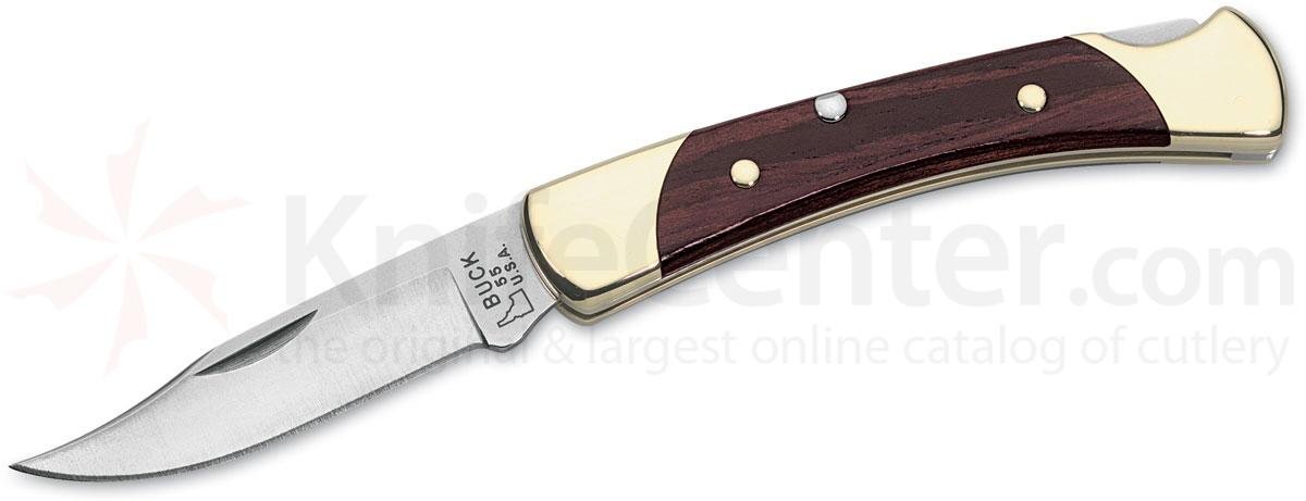 Buck 055 The 55 Folding Hunter 2-3/8 inch Blade, Natural Woodgrain Handles