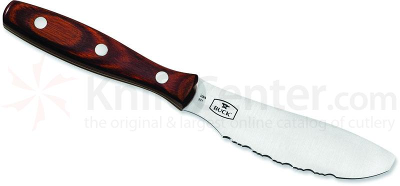 Buck Spreader Muli-Purpose Kitchen Knife 4-7/8 inch Flexible Serrated Blade