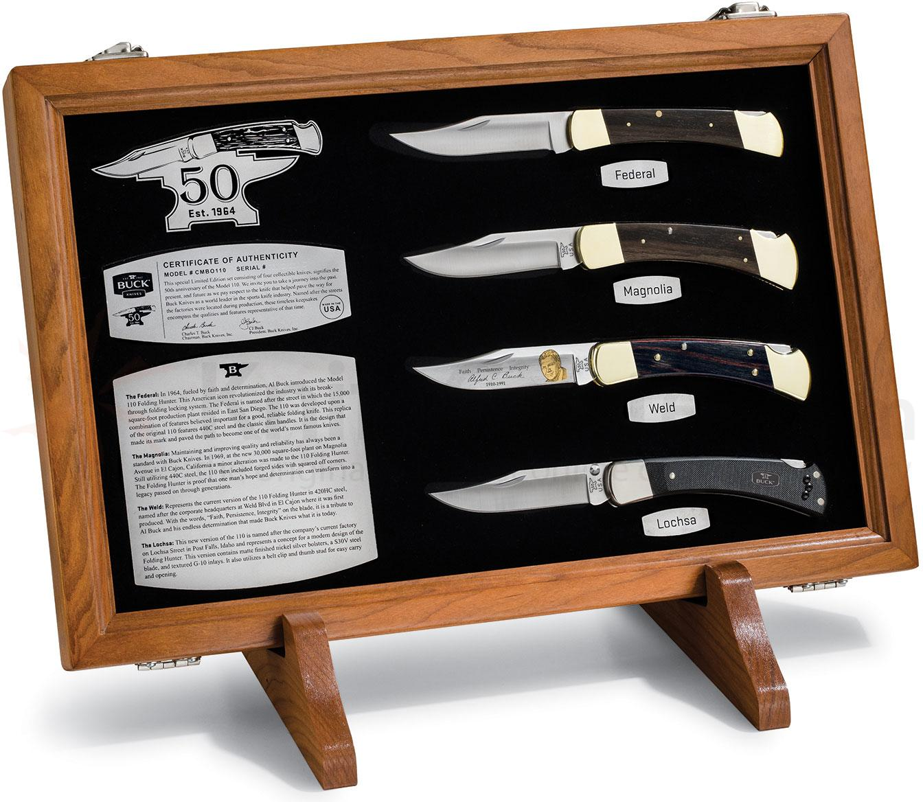 Buck 110 Folding Hunter Special Edition 50th Anniversary Box Set (CMBO110)
