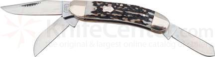 Buck Creek Sowbelly Stockman Stag 3 5/8 inch Closed Stag Handle