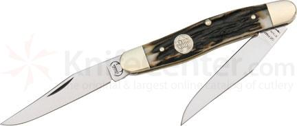 Buck Creek Muskrat. 3 7/8 inch closed. Stainless twin long clip blades.