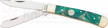 Buck Creek Trapper Golden Jade. 4 1/8 inch closed
