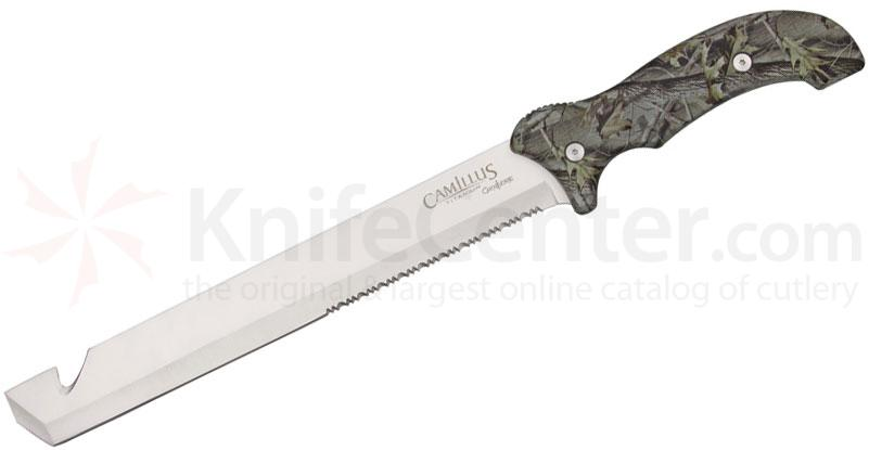Camillus Carnivore 12 inch Titanium Bonded Fixed Blade Knife with Camo Handles