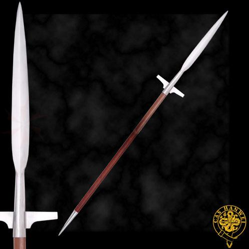Hanwei Medieval War Spear 84-1/4 inch Overall