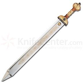 Art Gladius Julius Caesar Sword 30.25 inch Overall - Gold Plated Trim
