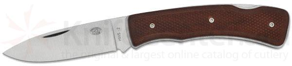 Rock Creek Knives Padre Folder 3 inch Blade, Stabilized Leather Handles