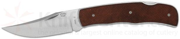 Rock Creek Knives Teton Folder 3-1/4 inch Blade, Stabilized Leather Handles