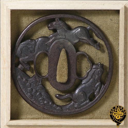 Horse Tsuba Fully Functional Authentically Constructed