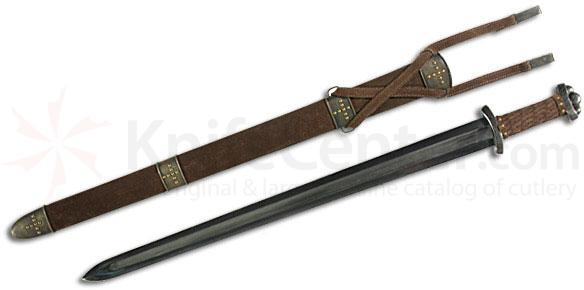 CAS Hanwei SH1010 Godfred Viking Sword Interwoven Leather Grip Damascus Guard and Pommel