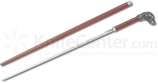CAS Hanwei SH2132 Silver Plated Bird Dog Sword Cane 37.25 inch Overall, Rosewood