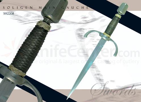 Solingen Main Gauche Forged High-Carbon Steel Leather Scabbards