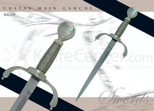 Gustav Main Gauche Forged High-Carbon Steel Leather Scabbards