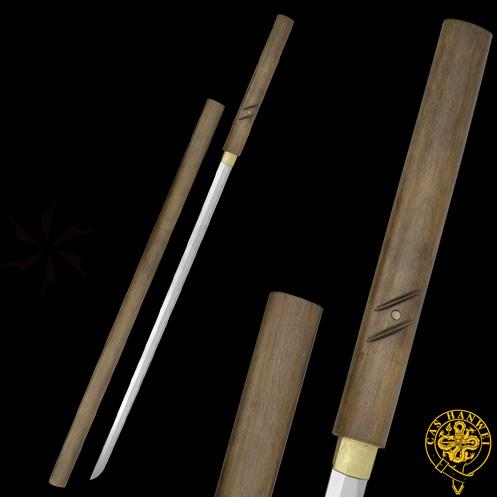 CAS Hanwei SH2267 Zatoichi Stick/Sword (Forged) Forged High-Carbon Blade Natural Wood Handle