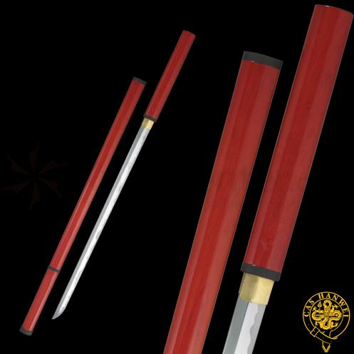Zatoichi Stick/Sword Carbon Steel With Etched Temper Line Blade