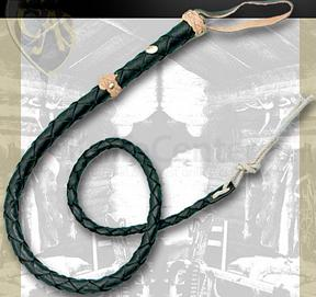 Brown Leather Bullwhip 55 inch Long Whip